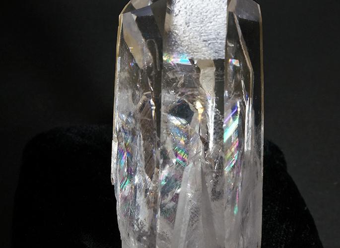 虹入り水晶