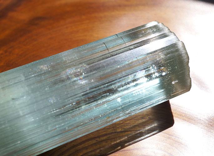 高品質ネパール産アクアマリン 原石ポイント-0