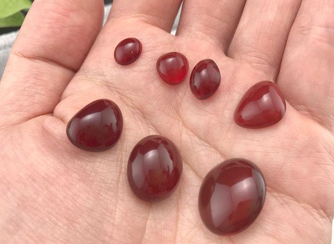 高品質 ファイアーオパール(赤色が強い希少タイプ)-0