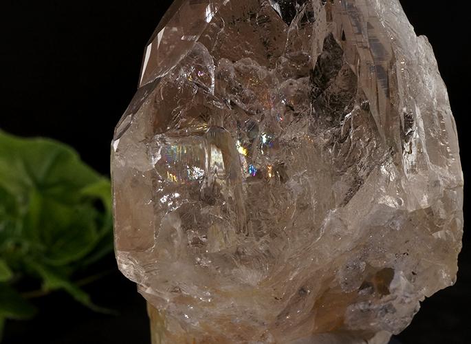 ガネッシュヒマール産水晶 (スモーキーカテドラル 虹入り) ティプリン産 193g-4