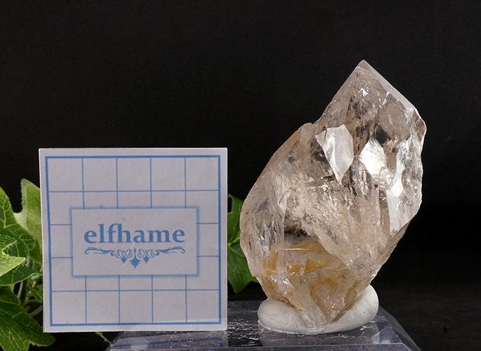 ガネッシュヒマール産水晶 (スモーキーカテドラル 虹入り) ティプリン産 193g-8