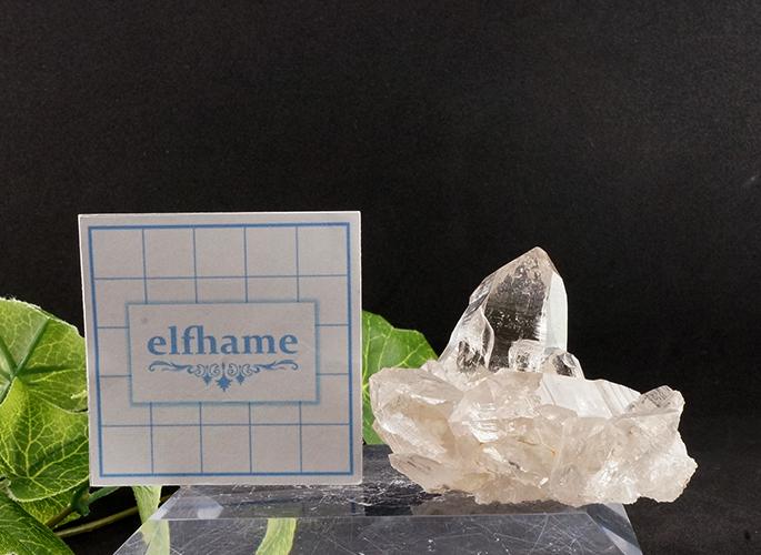 ガネッシュヒマール産水晶 (スモーキーカテドラル クラスター セルフ) ティプリン産 92g-7