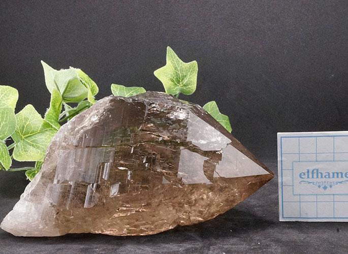 ガネッシュヒマール産水晶 (スモーキーカテドラル) ガウリシャンカール産 1263g -18