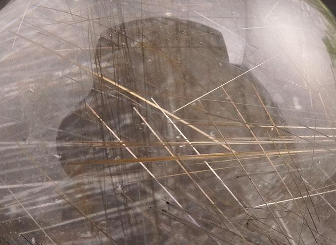 ゴールド&シルバールチルクォーツ 丸玉-10