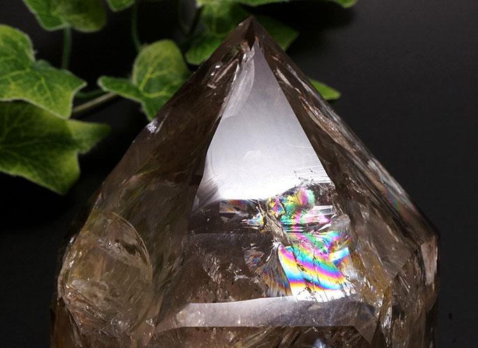 スモーキーハーキマーダイヤモンド(レインボー)-5