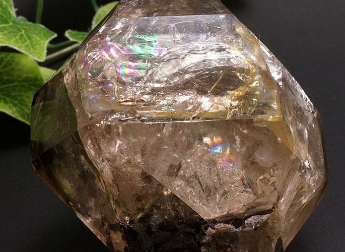 スモーキーハーキマーダイヤモンド(レインボー)-8