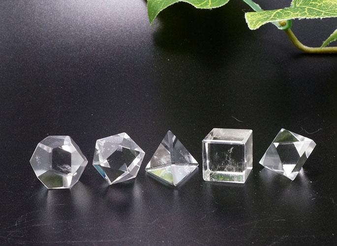 ヒマラヤ水晶 プラトン立体 5個セット-6