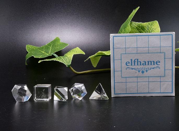 ヒマラヤ水晶 プラトン立体 5個セット-7