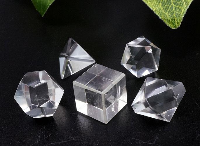 ヒマラヤ水晶 プラトン立体 5個セット